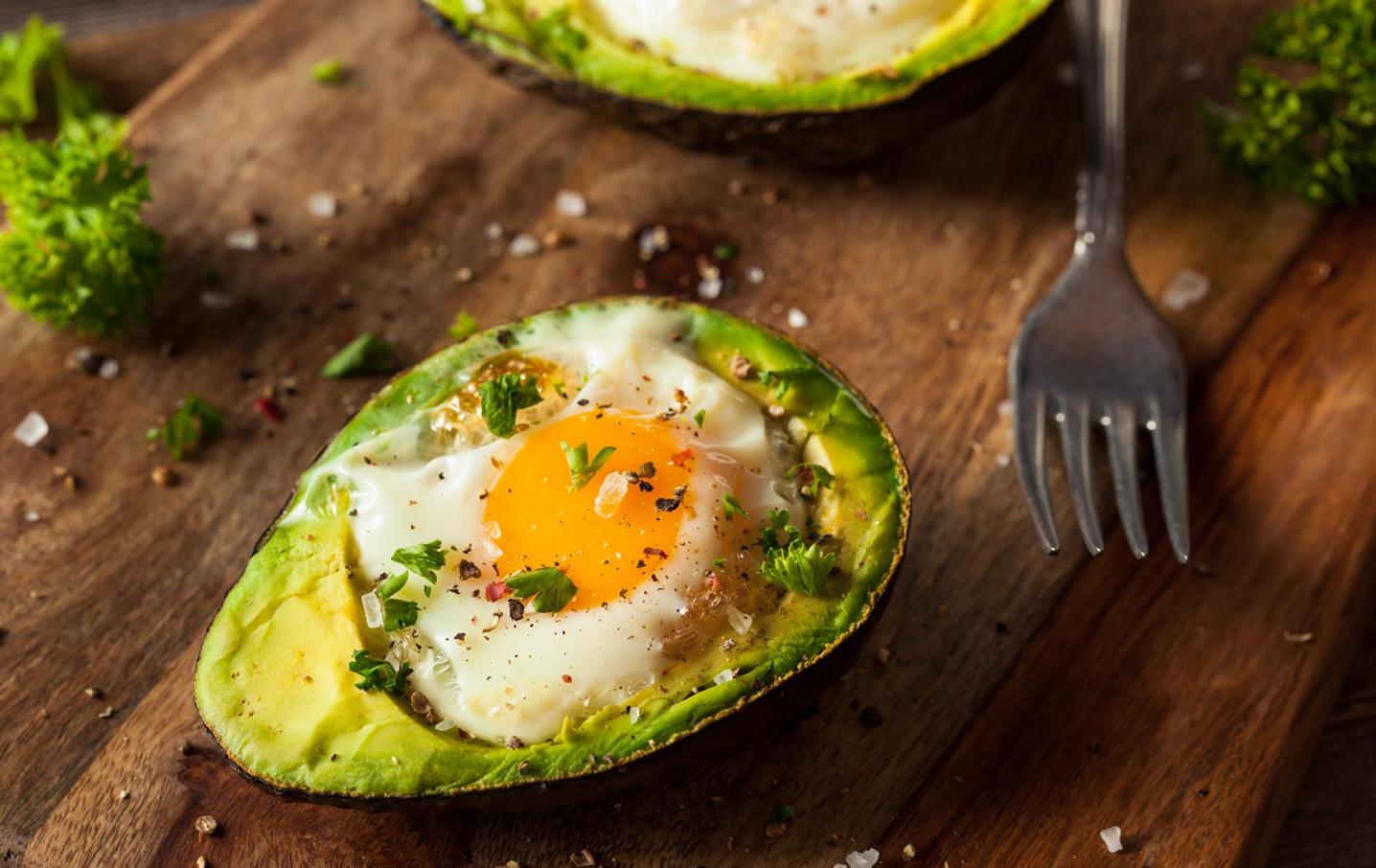 Baked Avocado and egg recipe